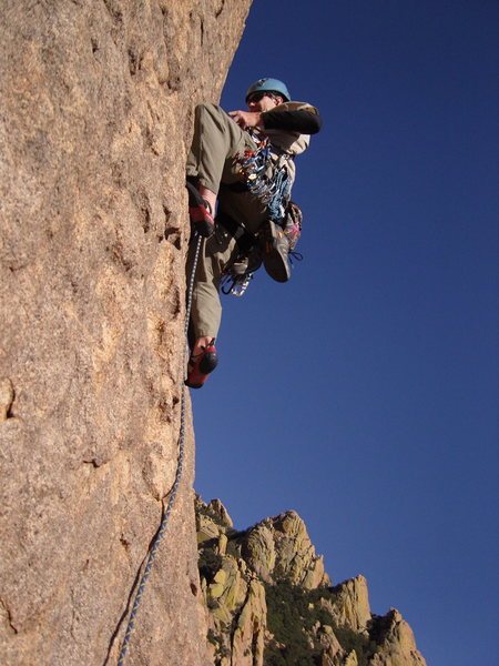 Rock Climbing Photo: Starting the 5th pitch of Moby Dick