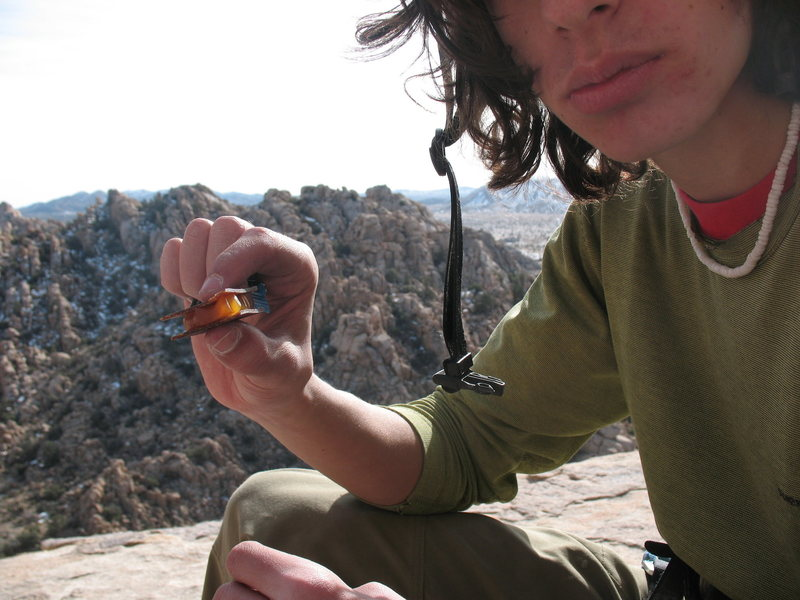Rock Climbing Photo: celebratory snack at the top. Fruit leathers and s...