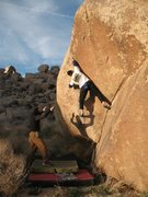 Rock Climbing Photo: Making the reach into the flake on Dripper Left (V...