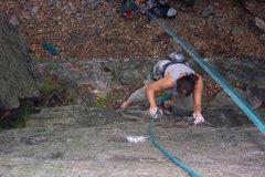 "Rock Climbing Photo: Kim on ""Drifting Arrow"" 5.8"