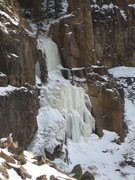 Rock Climbing Photo: East Valley wall ice (WI4).