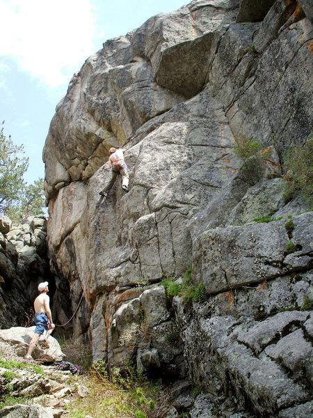 Rock Climbing Photo: Bruce Miller on Sinopia 5.13a, Frisky Cliff.  Phot...