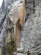 Rock Climbing Photo: The classic Cosmosis Dihedral, photo: Bob Horan.