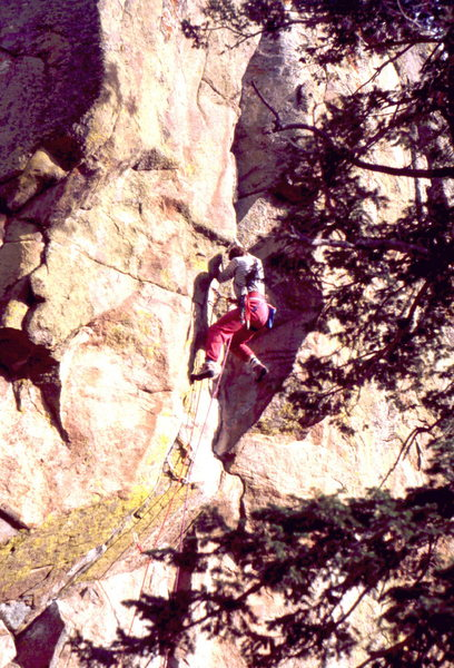Rock Climbing Photo: Mark Rolofson on Enemy of the People, photo: Bob H...