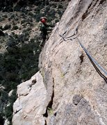 Rock Climbing Photo: MK following the third and most fun pitch on Stamp...