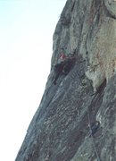 Rock Climbing Photo: Pitch 5 lined with a bunch of old pins that have t...