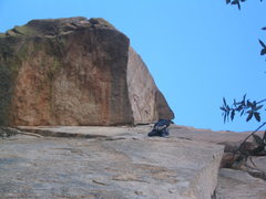 Rock Climbing Photo: Just before the finger crack business on the first...