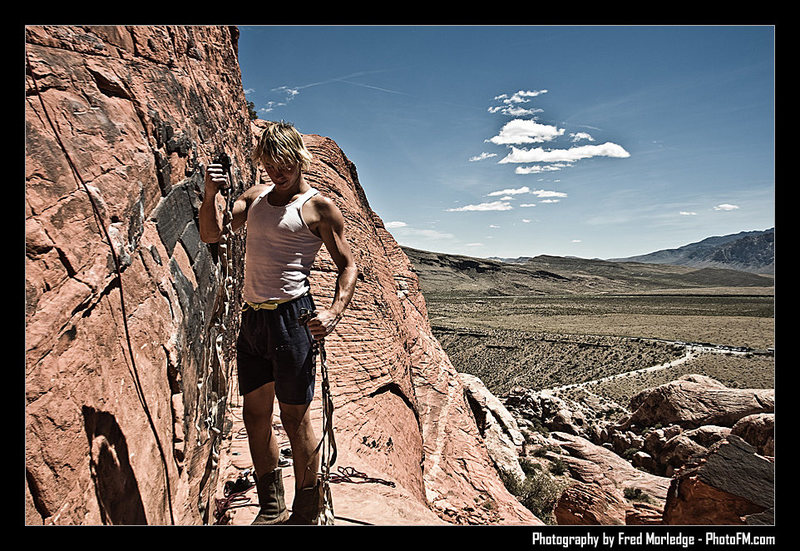 Rock Climbing Photo: explaining