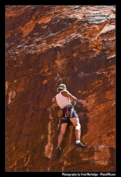 Rock Climbing Photo: god dam sport climbing