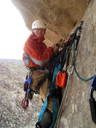 Rock Climbing Photo: Bill Sherman at the P1 hanging belay