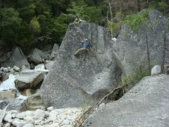 Rock Climbing Photo: Bouldering in Tenaya Canyon, near Hidden Falls.