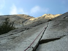 Rock Climbing Photo: Craggin' @ the base 'o the Capt'n.  Moby Dick I be...