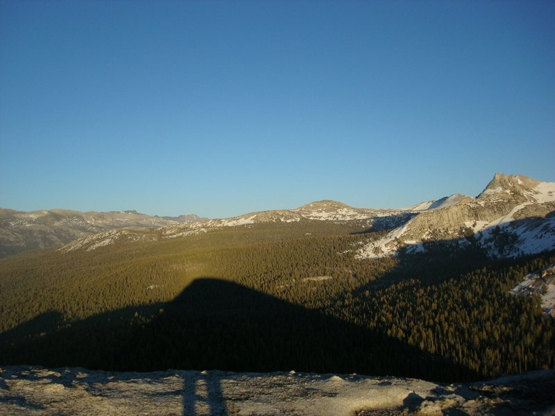 View from the summit of Fairview Dome (Tuolumne, CA)
