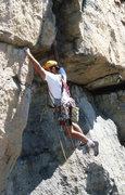 "Rock Climbing Photo: The opening moves of ""No Exit"" 5.10 The ..."