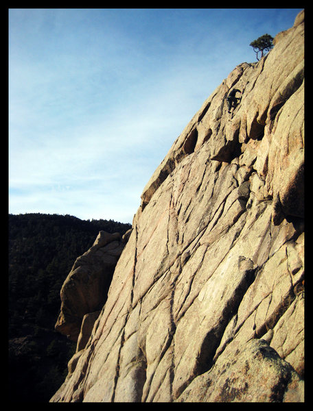 Rock Climbing Photo: An after work freesolo of the East Slab in Februar...