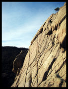 An after work freesolo of the East Slab in February.