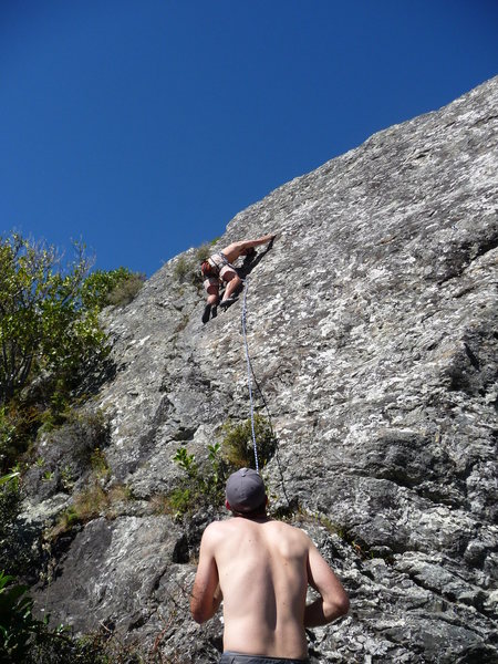 Rock Climbing Photo: the Boneyard: small climbing area right on the wat...