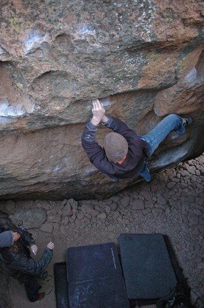 Nate Bowe climbing