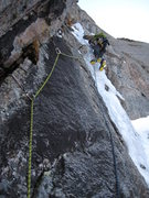 Rock Climbing Photo: BV leading P4.