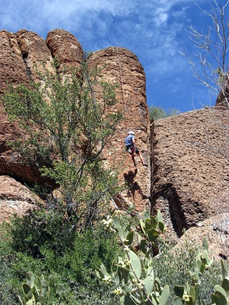 Rock Climbing Photo: Rappelling off Nothing To It