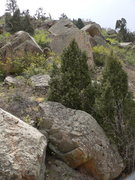 Rock Climbing Photo: Looking up the MoSo ridge line.
