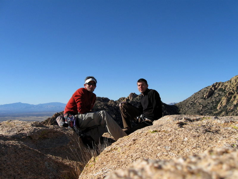 Wade and I atop Sheeps Head, AZ