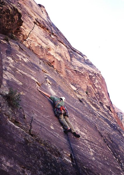 Rock Climbing Photo: the thin crack beginning