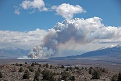 Rock Climbing Photo: Fire on the Owens River, 4/08