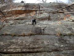 Rock Climbing Photo: Pigsty, 5.8, Jamestown, AL.
