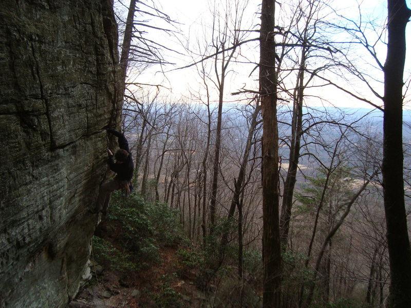 Rock Climbing Photo: Ben enjoying the jams