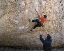 "Rock Climbing Photo: Flashing HPD, just before the ""Drifter"" ..."