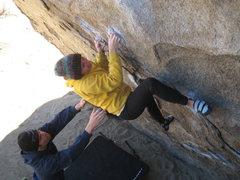 Rock Climbing Photo: Heather on the Bowling Pin.
