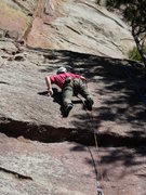 Rock Climbing Photo: Leading Raccoon Soup.