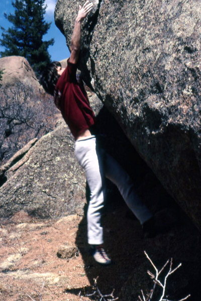 Rock Climbing Photo: Max Kendall lunges.