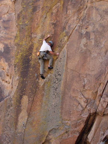 """Rock Climbing Photo: Dave Russell finding out this route is """"The R..."""