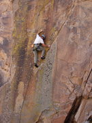 "Rock Climbing Photo: Dave Russell finding out this route is ""The R..."