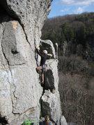Rock Climbing Photo: Lauryn belaying Pat