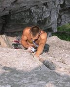 Rock Climbing Photo: Matt leading Traffic Jam