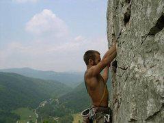 Rock Climbing Photo: Matt on Traffic Jam