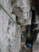 Rock Climbing Photo: Luke in the first pitch or the second if you count...
