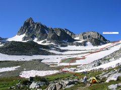 Rock Climbing Photo: Below North Glacier Pass and Banner Peak. Ten mile...
