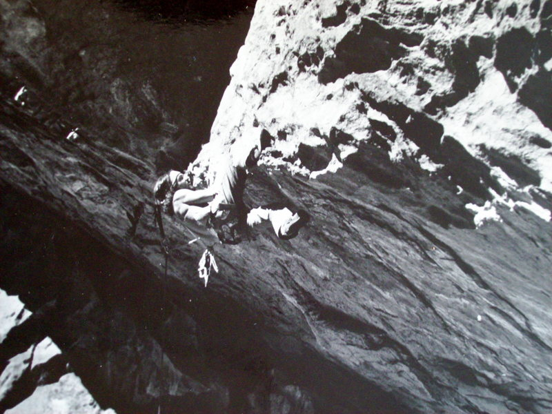 Rock Climbing Photo: Kloberdanz Roof, circa 1978.