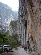Rock Climbing Photo: A busy day at the Las Animas Wall.