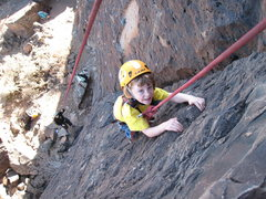 Rock Climbing Photo: Miles killing the giant and having a great time do...