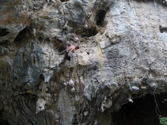 Rock Climbing Photo: Milking the kneebar rest after the super steep low...