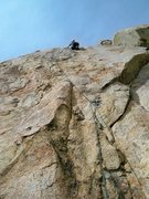 Rock Climbing Photo: Leading up Pay Per View, Corte Madera.