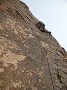 Rock Climbing Photo: Getting gear in the upper horizontal on Kona (5.10...
