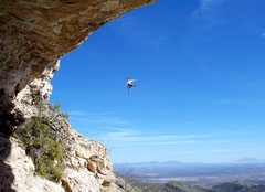 Rock Climbing Photo: There's a bit of an overhang. Photo by Andrew Guic...