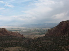 Rock Climbing Photo: Picture looking out from the top of the first pitc...