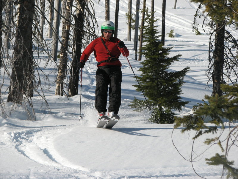 Rock Climbing Photo: Backcountry skiing in NW. Montana 12 months out fr...